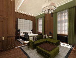 The Edinburgh Grand bedroom
