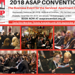 2018 ASAP Serviced Apartment Convention expands to 2 day event, as delegate booking opens