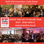 Final opportunity to join record 460+ people at ASAP Convention and Gala Dinner