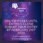 ASAP Awards:  Pssst!! Here's your 4 week warning!
