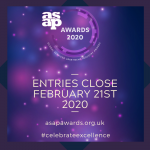 ASAP Awards:  2 weeks to go – here's why we think you should enter.
