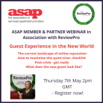"ASAP Webinar Series: ""Guest Experience in the New World"" in collaboration with ReviewPro"