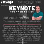 ASAP launches Keynote Speaker Series