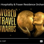 Frasers wins serviced apartment categories at 'Travel Weekly' World Travel Awards