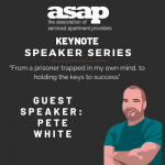 ASAP Community from 7 countries attend moving Keynote Speaker Session with Pete White