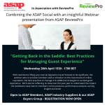 """ASAP Webinar """"Getting Back in the Saddle: Best Practices for Managing Guest Experience"""" – Register now"""